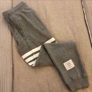 Men's Thom Browne Grey Jogger Trousers - Medium